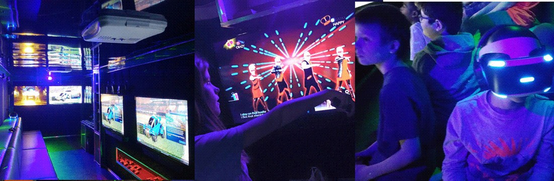 Our Game Theater has Stadium Seating, Laser Lights and more!